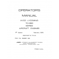 Lycoming Operator's Manual Part # 60297-20-3 TO-360 Series $13.95