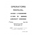 Lycoming Operator's Manual Part # 60297-22-1 O-320 76 Series $13.95