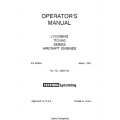 Lycoming Operator's Manual Part # 60297-23-8 TIO-540 Series $13.95