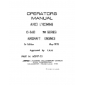 Lycoming Operator's Manual Part # 60297-25-1 O-360 76 Series $13.95