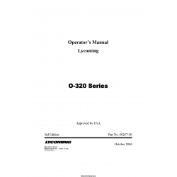 Lycoming O-320 Series Operator's Manual 60297-30 $19.95