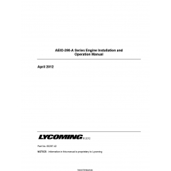 Lycoming AEIO-390-A Series Engine Installation and Operation Manual 60297-42  $19.95