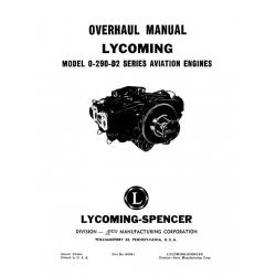 Lycoming Overhaul Manual 60298-1 O-290-D2 $13.95