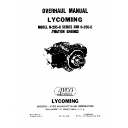 Lycoming Overhaul Manual 60298 O-235-C Series & O-290-D $13.95