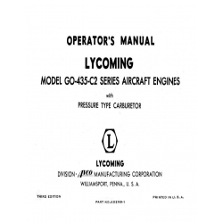Lycoming Operator's Manual Part # 60299-1 GO-435-C2 $13.95