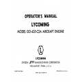 Lycoming Operator's Manual Part # 60299-6 GO-435-C2A $13.95