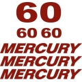 Mercury 60 HP Boat Motor Decal/Sticker!