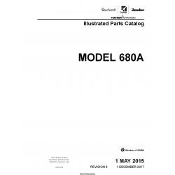 Cessna Model 680A Illustrated Parts Catalog 68APC08 $35.95