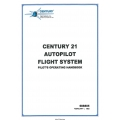 Century 21 Autopilot Flight System Pilot's Operating Handbook 68S805  $9.95