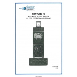 Century Iv Autopilot Flight System Pilot's Operating Handbook 68S82 $4.95