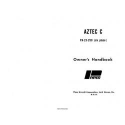 Piper Aztec C PA-23-250 Owner's Handbook Manual 1966 753-709
