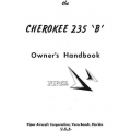 Piper Cherokee 235 B Owner's Handbook Part # 753-729 $13.95