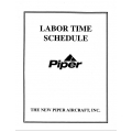 Piper Labor Time Schedule part# 753-779