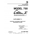Cessna Model 750 Citation X (Airplnes 750-0173 And ON) JAA Airplane Flight Manual/POH 75EUMA-S11-05 $2.95