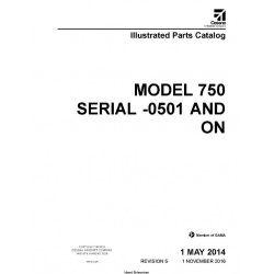 Cessna Model 750 Serial -0501 and ON Illustrated Parts Catalog 75PCC05 $29.95
