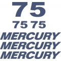 Mercury 75 HP Boat Motor Decal/Sticker!