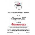 Piper Cheyenne III/IIIA Maintenance Manual  PA-42/42-720 P/N 761-523 v2012