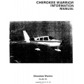 Piper PA-28-151 Cherokee Warrior Information Manual 1973 - 1975 $9.95 Part # 761-563
