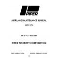 Piper Tomahawk Maintenance Manual PA-38-112 $13.95 Part # 761-660