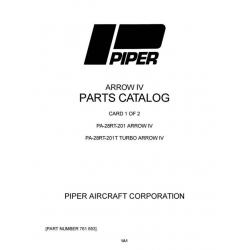 Piper Arrow IV Parts Catalog PA-28RT-201 & PA-28RT-201T Part # 761-693