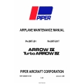 Piper Arrow IV/TURBO ARROW IV PA-28R-201/PA-28RT-201T Maintenance Manual 761-694 v2009 $19.95