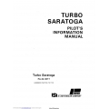 Piper Turbo Saratoga PA-32-301T Pilot's Information Manual Part # 761-729 $13.95