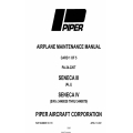 Piper PA-34-220T Seneca III, Seneca IV (S/N's 3448038 thru 3448079) Maintenance Manual v2007 $29.95