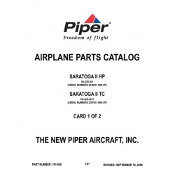 Piper Saratoga II HP/II TC Parts Catalog PA-32R-301 & 301T $13.95 Part # 761-880