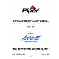 Piper Archer III Maintenance Manual PA-28-181 $13.95 Part # 761-883