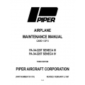Piper Seneca III/IV Maintenance Manual PA-34-220T $13.95 Part # 761-751