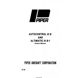 Piper Autocontrol III B and Altimatic III B-1 Service Manual 761-502