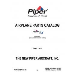 Piper 6X Parts Catalog/Manual PA-32-301FT Part # 766-856