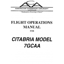 Citabria Model 7GCAA Flight Operations Manual $9.95