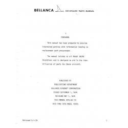 Bellanca 8KCAB Parts Manual $9.95
