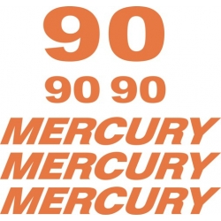 Mercury 90 HP Boat Motor Decal/Sticker!