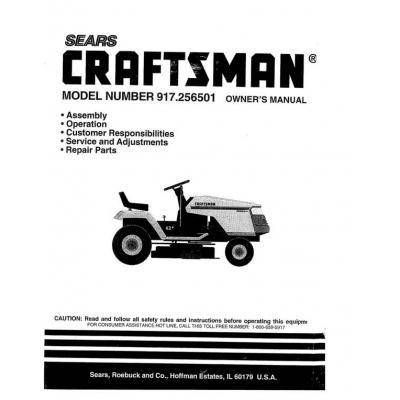 917256501 135 Hp Owner039s Manual Sears Craftsman 495 P 1281