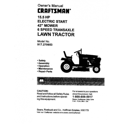 Dgt6000 Craftsman tractor Review Manual