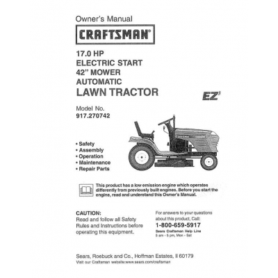 917 270742 17 0 Hp Electric Start 42 Quot Mower Automatic Lawn
