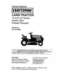 CRAFTSMAN T110 17.5-HP Manual/Gear 42-in Riding Lawn Mower ...