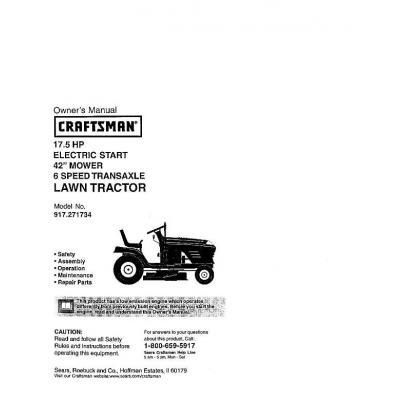 17 5 hp electric start 42 mower 6 speed for Craftsman 17 5 hp motor