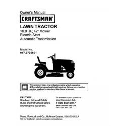 sears craftsman lawn tractor manual pdf