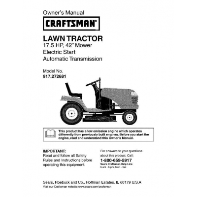 17 5 hp 42 mower electric start automatic for Craftsman 17 5 hp motor