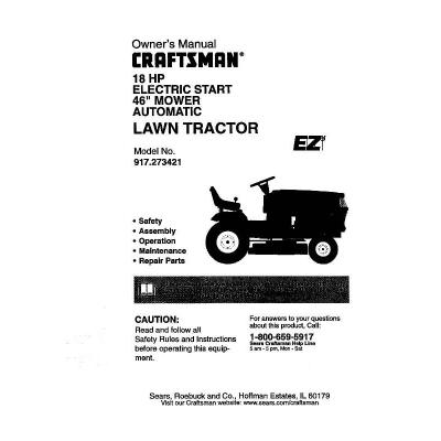 User Manual For Craftsman Lawn Mower