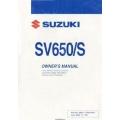 Suzuki SV650/S Owner's Manual Part No.99011-17G52-03A 2004