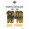 Harley Davidson 1340 Big Twin Parts Catalog 1987-1990 Part # 99450-90A