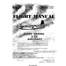 Douglas A-26 Invader USAF Series Aircraft Flight Manual/POH 1966 - 1969 $9.95