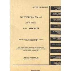North American Aviation A-5A Navy Model Aircraft Natops Flight Manual/POH 1965 $5.95