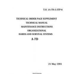 LTV Corsair A-7D Egress and Survival Systems Maintenance Instructions 1991 $5.95