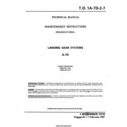 LTV A-7D Corsair II Landing Gear System Maintenance Instructions 1976 - 1991 $5.95