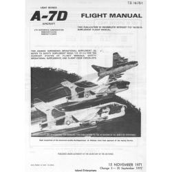 LTV A-7 Corsair II USAF Series Aircraft Flight Manual/POH 1971 - 1972 $9.95
